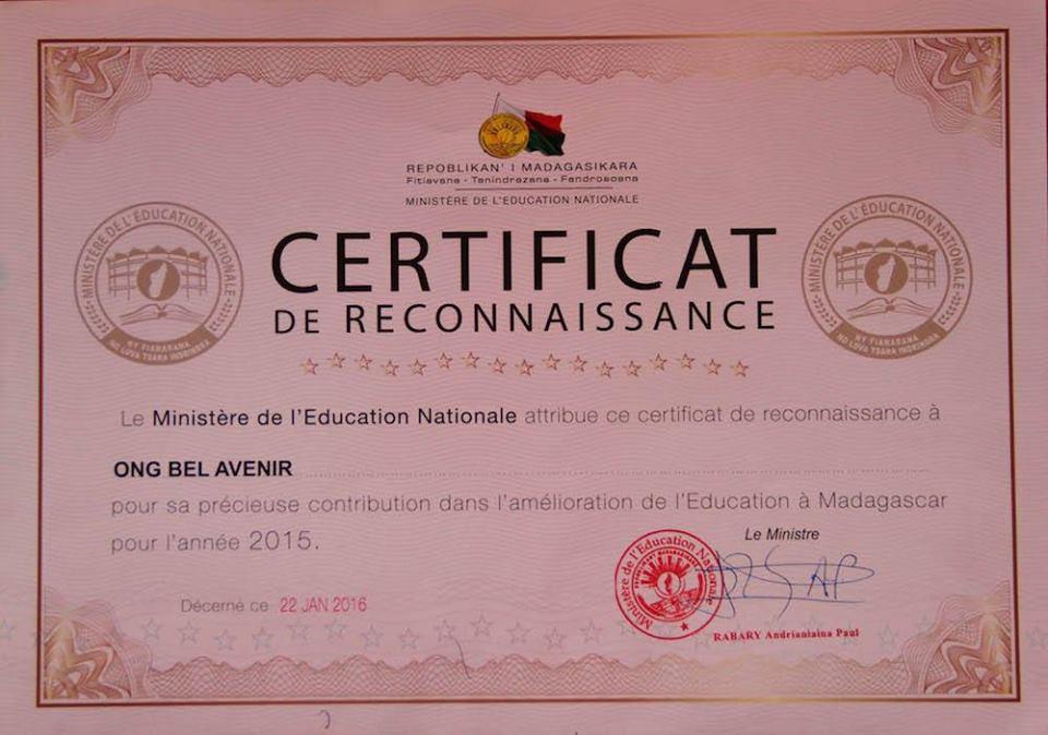 Ens reconeixen el treball que duem a terme a Madagascar!